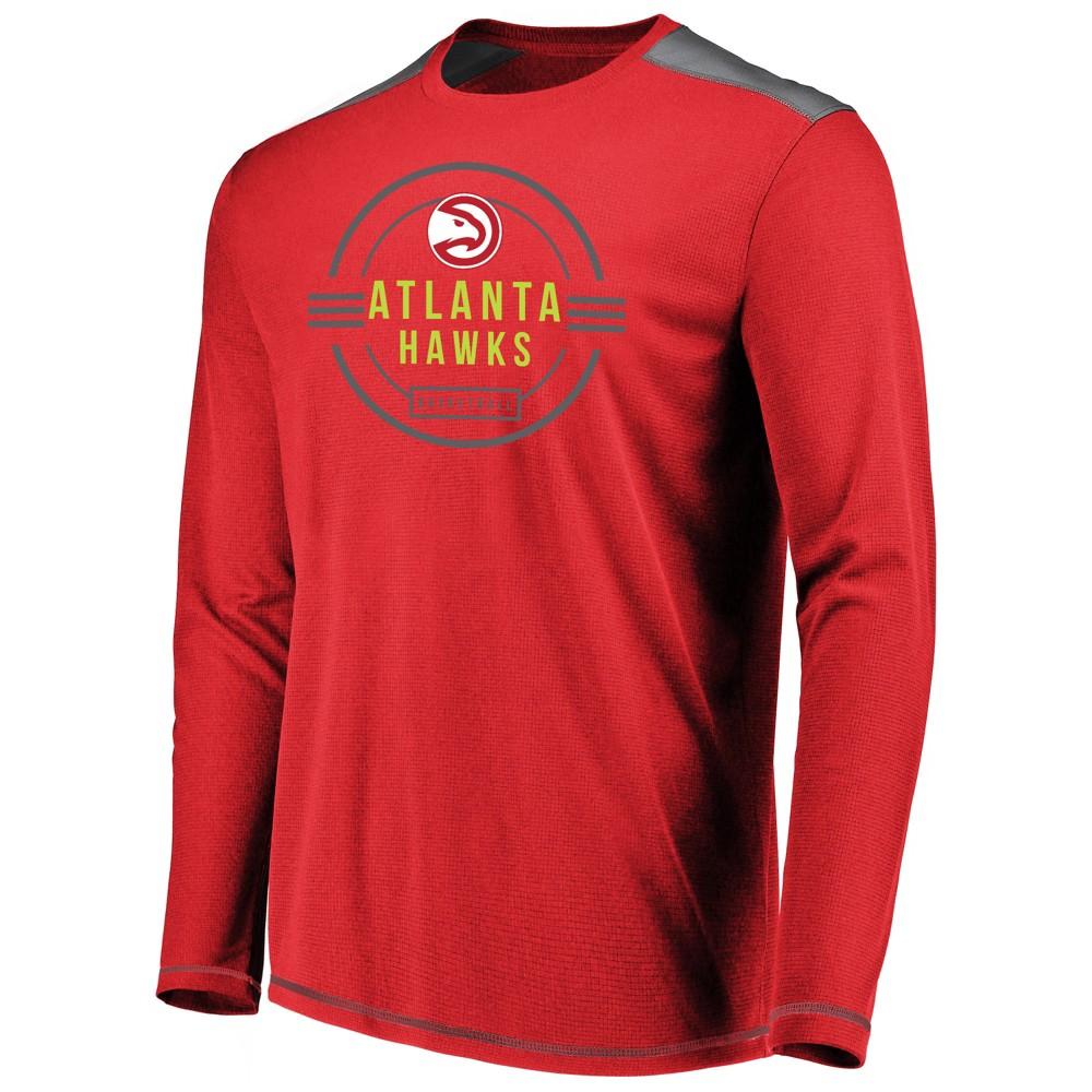 Atlanta Hawks Men's All Pride Long Sleeve Geo Fuse Shooting Top XL, Multicolored