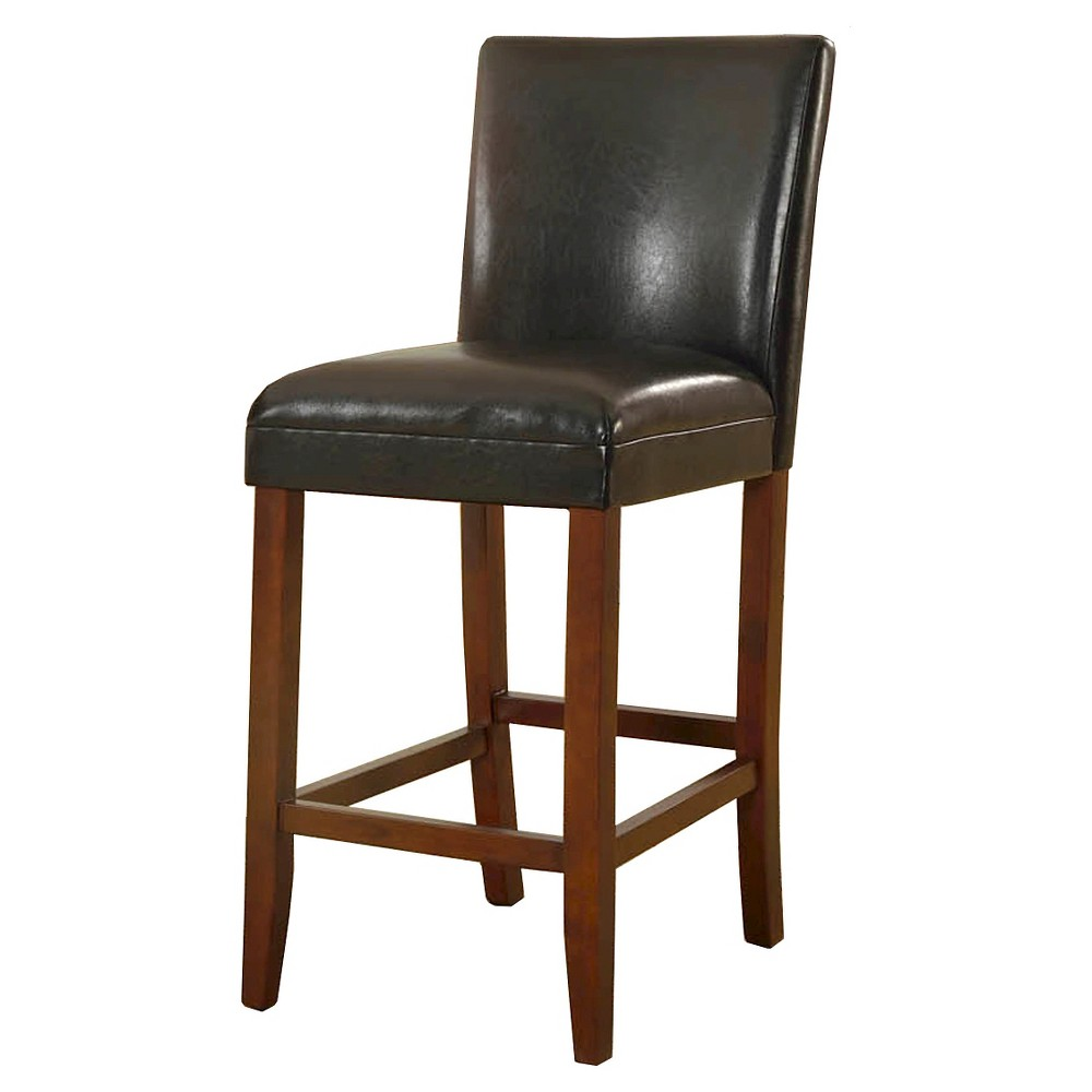 29 Faux Leather Bar Stool Black - HomePop was $124.99 now $93.74 (25.0% off)