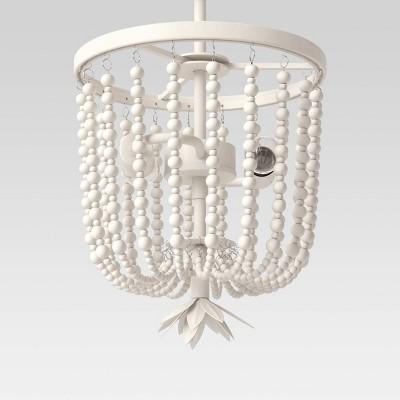 Small Wooden Beads Chandelier Beige - Opalhouse™