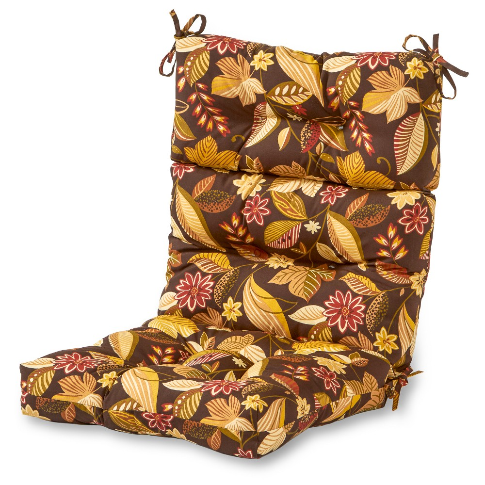 Timberland Floral Outdoor High Back Chair Cushion - Greendale Home Fashions