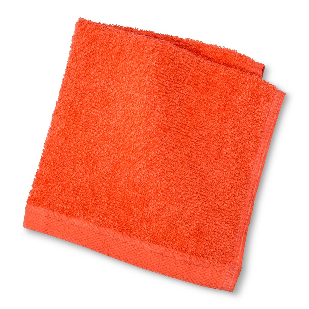 Image of Everyday Solid Washcloth Bright Coral - Room Essentials , Bright Pink