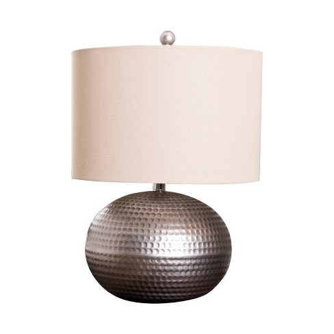Arlo Hamme Pewter Finish Table Lamp Pewter (Lamp Only) - Abbyson Living - image 1 of 4
