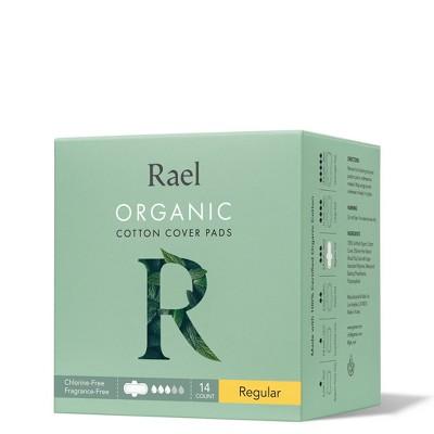 Rael Organic Cotton Regular Menstrual Pads - Unscented - 14ct