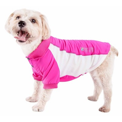 Pet Life Active Barko Pawlo Relax-Stretch Wick-Proof Dog and Cat Polo T-Shirt - Pink