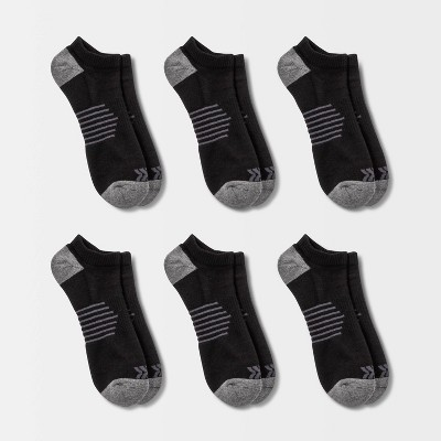 Men's Striped Arch No Show Socks 6pk - All in Motion™ 6-12