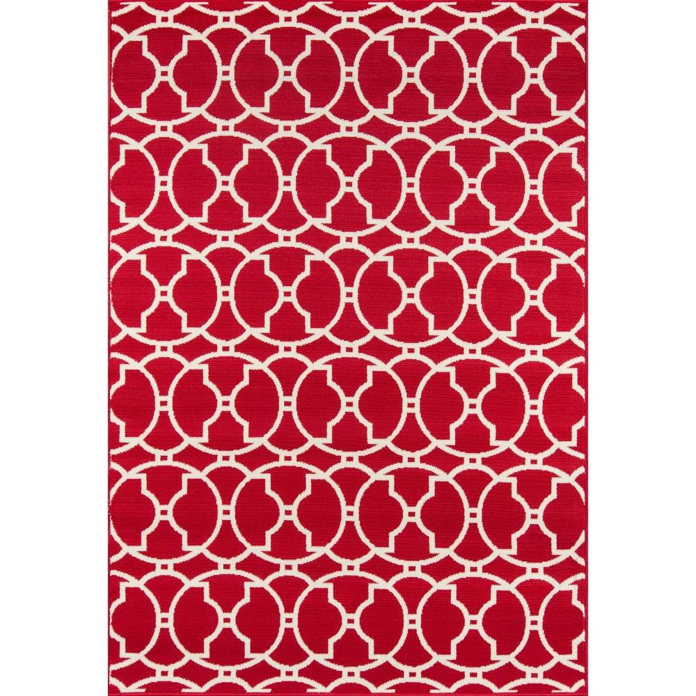 Red Indoor/Outdoor Calypso Area Rug 8'6x13' - Momeni