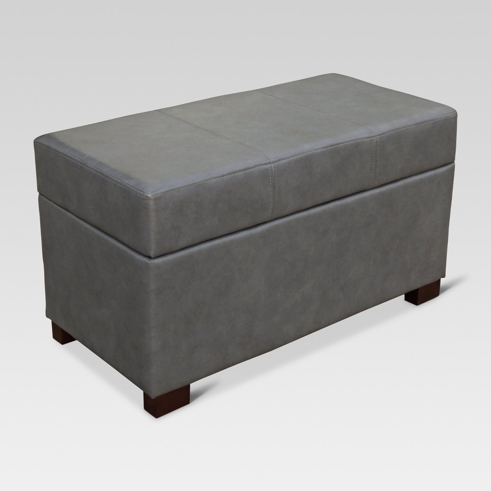 Essex Basic Storage Bench - Blue Gray - Threshold