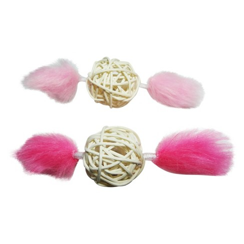 Wicker Pet Toy Set - Pink - 2pk - Boots & Barkley™ - image 1 of 1