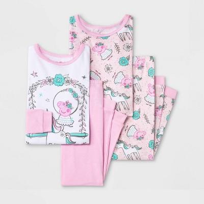 Toddler Girls' 4pc Peppa Pig Ballerina Pajama Set - Blush Pink