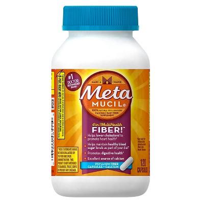 Metamucil Multi-Health Psyllium Fiber + Calcium Capsule 120ct