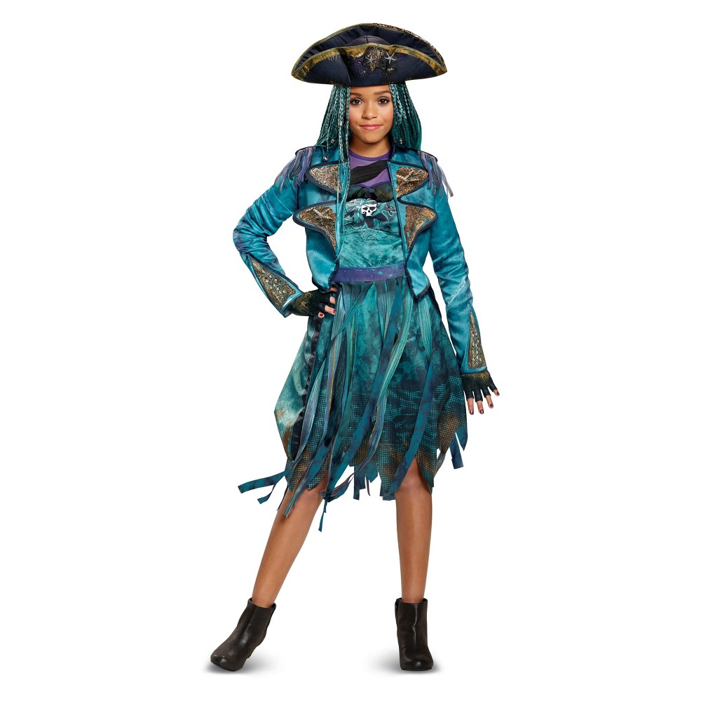 Girls' Disney Descendants Uma Deluxe Halloween Costume S (4-6), Multicolored