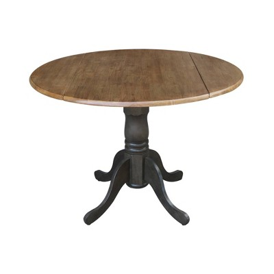 "42"" Mason Round Dual Drop Leaf Dining Table - International Concepts"