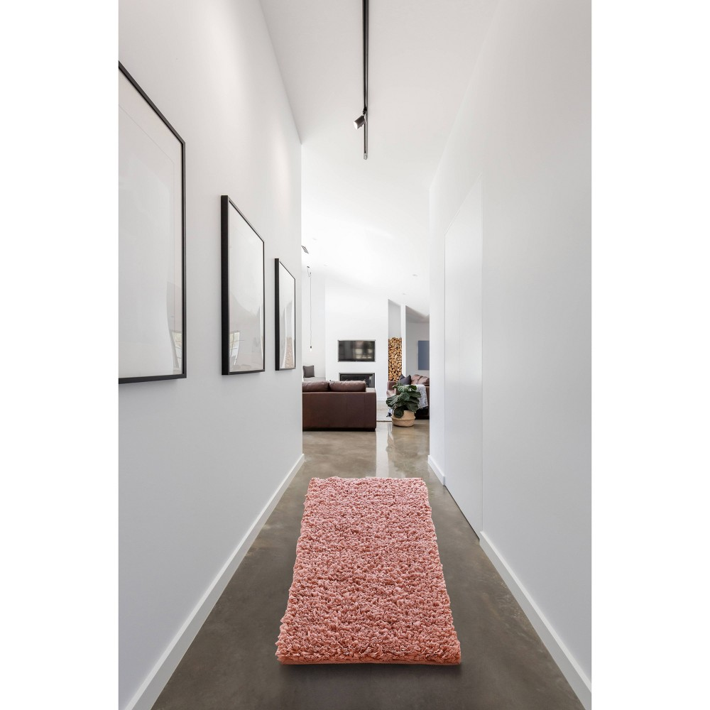 """Image of """"24""""""""X60"""""""" Paper Shag Runner Pink - VCNY"""""""