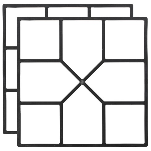 Gardenised Decorative Pavement Mold Cement Form Stamp Walkway Maker Patio Stepping Stone Pavers Reusable Pathway Mould, 2 Pack - image 1 of 4