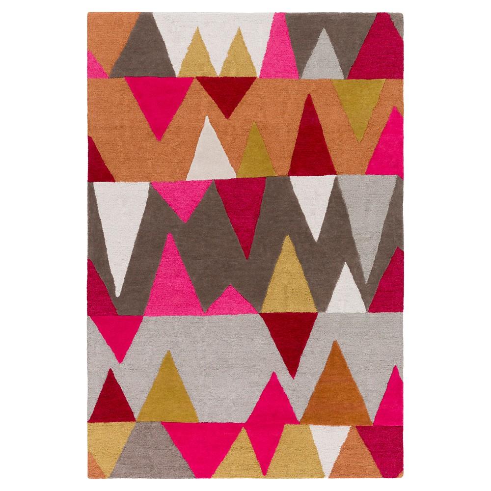 Leola Kid's Rug 5'x7'6 Bright Pink - Surya