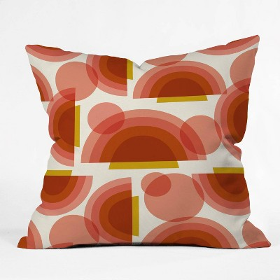 """16""""x16"""" Heather Dutton Spectrum Throw Pillow Red - Deny Designs"""