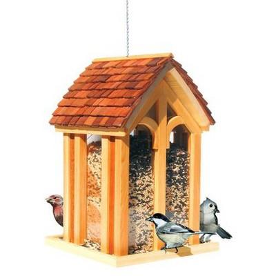 11.77  Mountain Chapel Wild Bird Wood Feeder - Perky-Pet