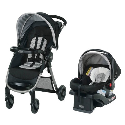 Graco FastAction Fold SE Travel System with SnugRide Infant Car Seat
