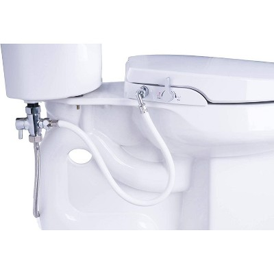 Elongated Bidet Seat with Self Cleaning Dual Nozzles White - Genie Bidet