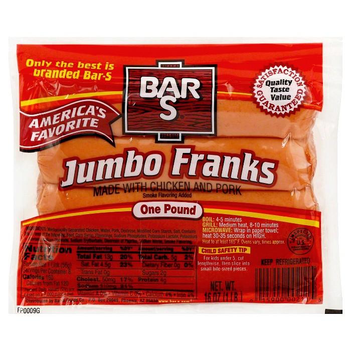 Bar-S Jumbo Franks - 24ct/1lb - image 1 of 1