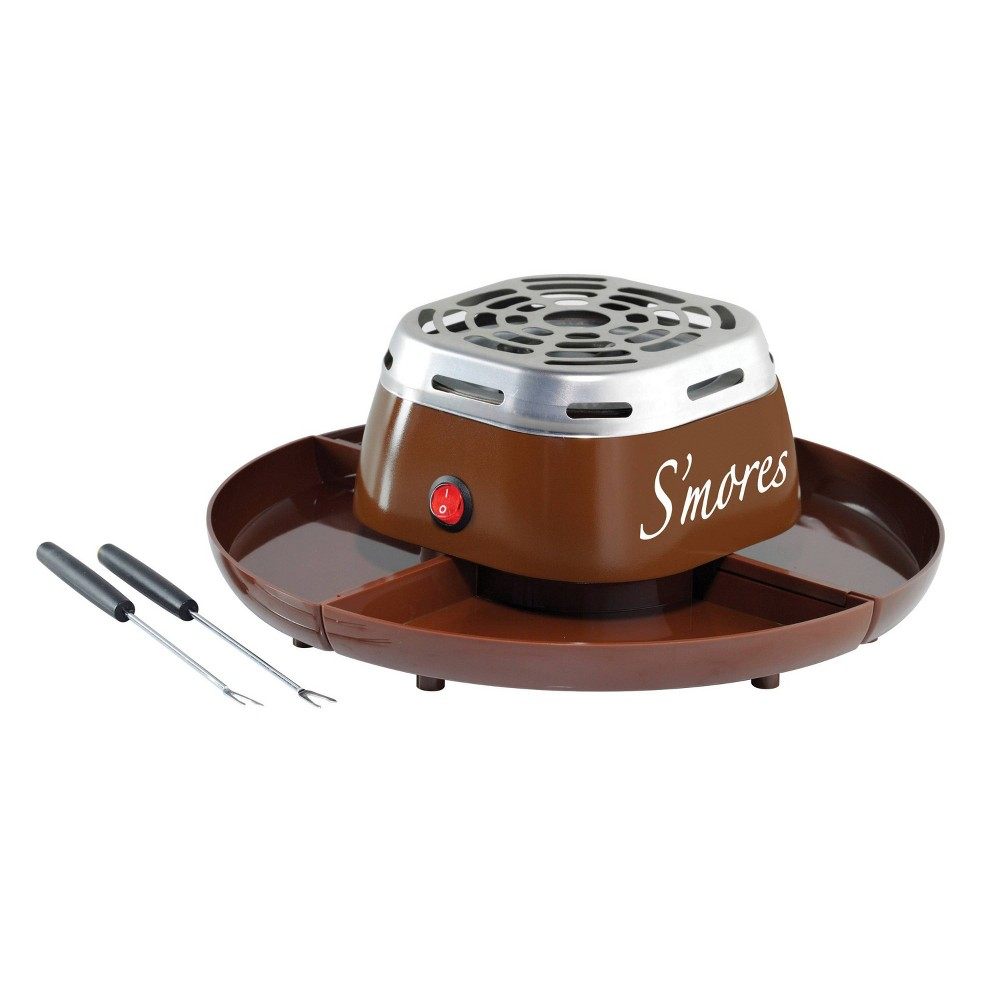 Nostalgia Electric S'mores Maker - Java Brown SMM200 Skip the hassle of building a bonfire and bring the taste of the campfire right into the kitchen! Simply fill the compartment tray with marshmallows, chocolate and graham crackers, then roast the marshmallows to a perfect golden brown over the flameless electric heater and enjoy! Color: Java Brown.