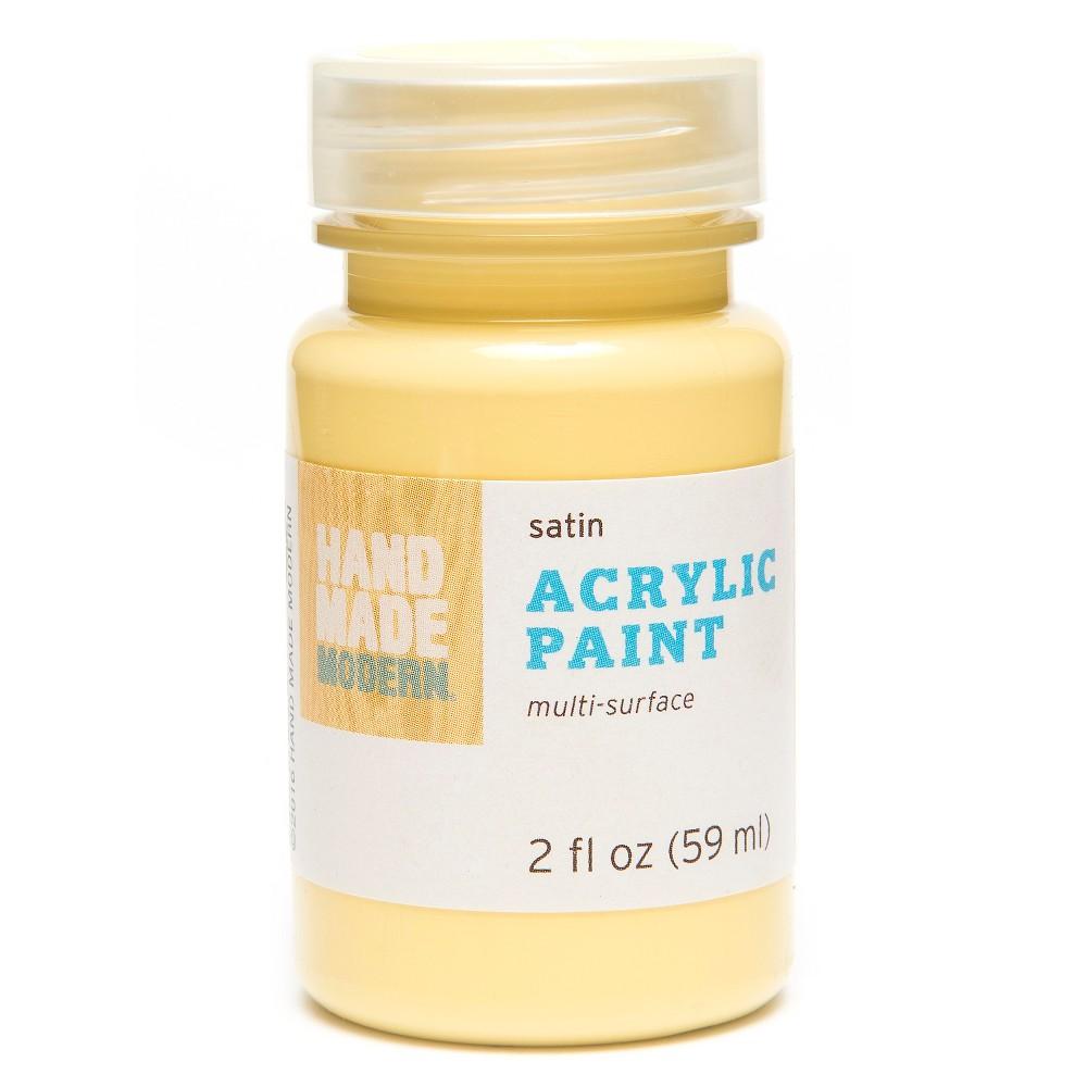 Image of 2oz Satin Acrylic Paint - Seaweed Hand Made Modern , Yellow