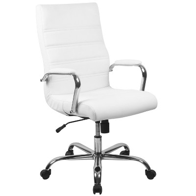 Flash Furniture High Back Executive Swivel Office Chair with Metal Frame and Arms