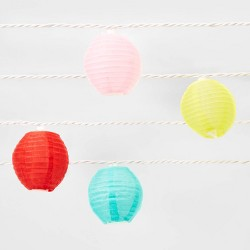 10ct Small Nylon Lanterns Outdoor Mini Lights - Sun Squad™