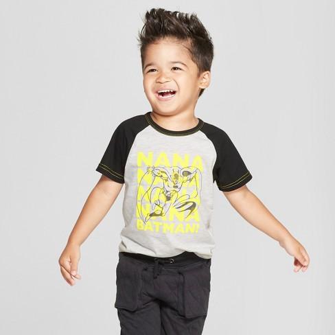 558ba5d5 Toddler Boys' DC Comics Batman Short Sleeve T-Shirt - Gray : Target