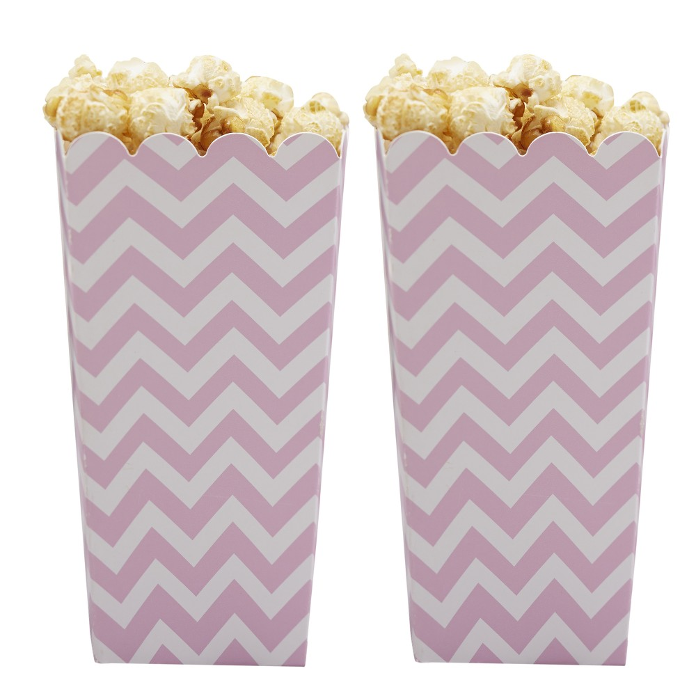 8ct Ginger Ray Popcorn Boxes Pink Chevron Divine, Multi-Colored