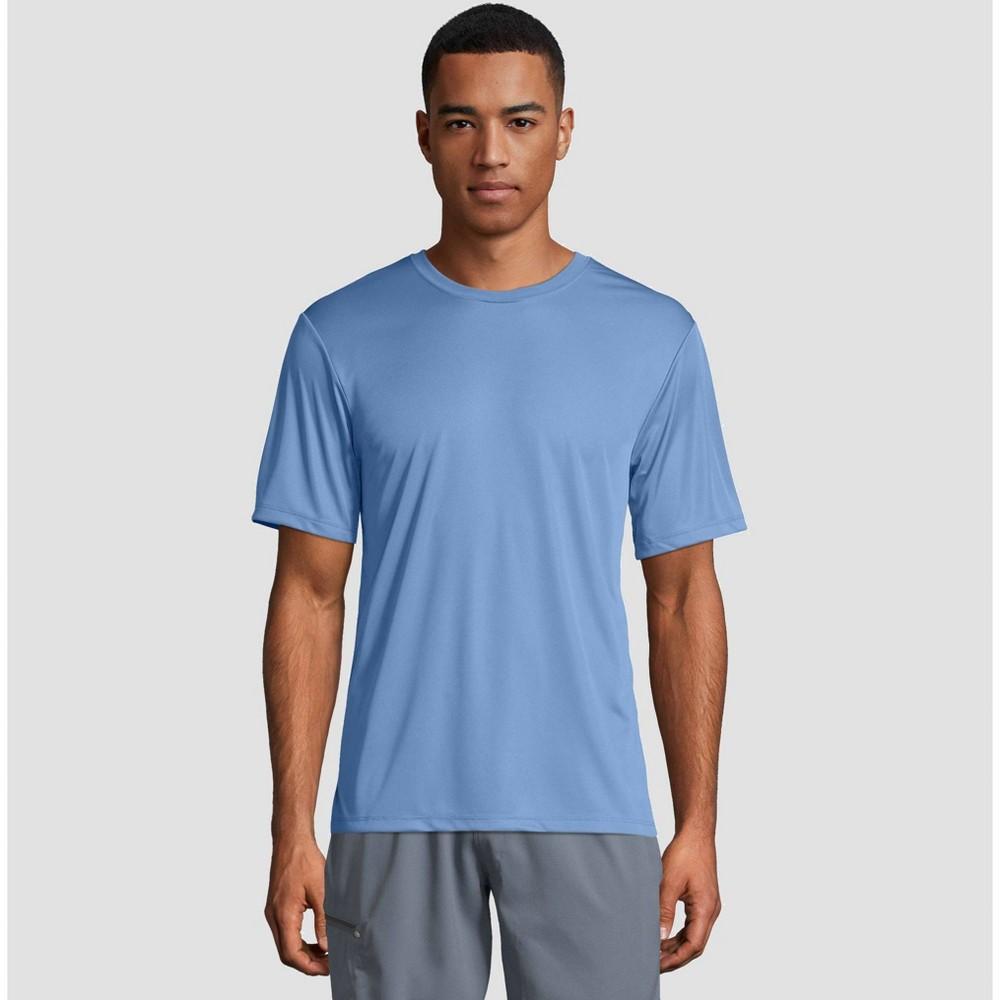 Hanes Men 39 S Cool Dri Performance Short Sleeve T Shirt Light Blue Xl