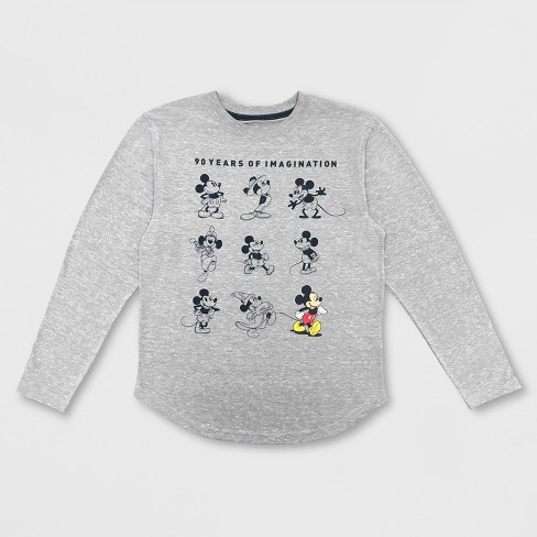 c3c2932dd9b Boys' Mickey Mouse Long Sleeve Graphic T-Shirt - Gray   Target