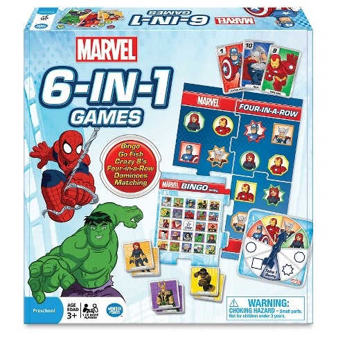 Marvel 6 in 1 Game Set - image 1 of 2