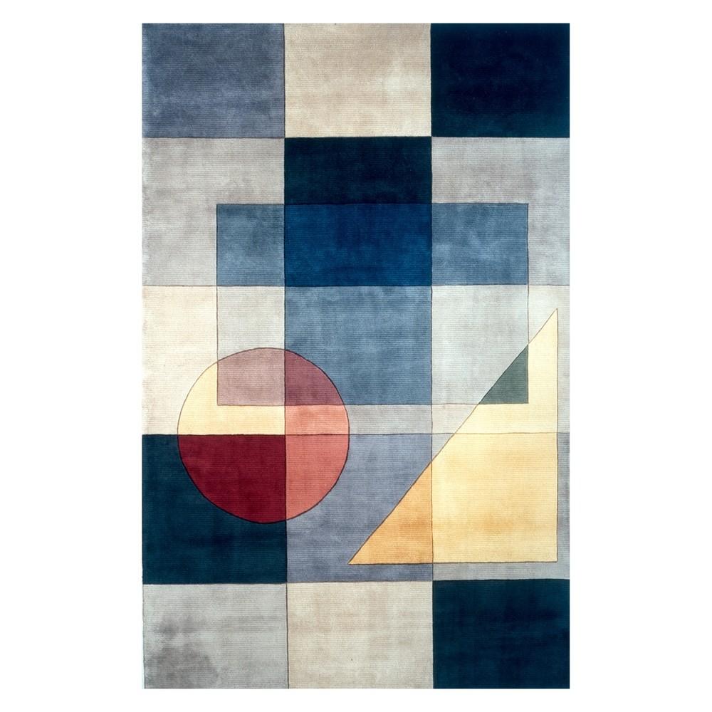 8'X11' Geometric Tufted Area Rug Blue - Momeni