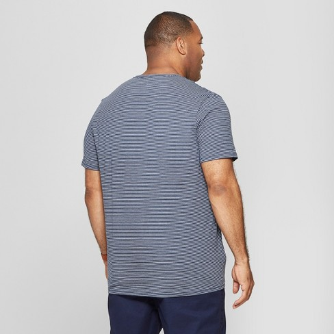 080a0fa96fff Men's Big & Tall Striped Standard Fit Short Sleeve Novelty V-Neck T-Shirt -  Goodfellow & Co™
