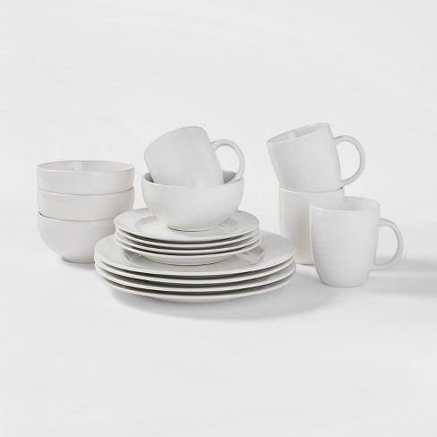 16pc Porcelain Dinnerware Set White - Threshold™ - image 1 of 4