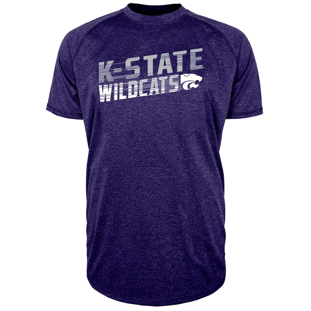 Kansas State Wildcats Men's Short Sleeve Raglan Performance T-Shirt - L, Multicolored