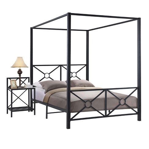 Metal Bed Frame Full Black - Home Source - image 1 of 2