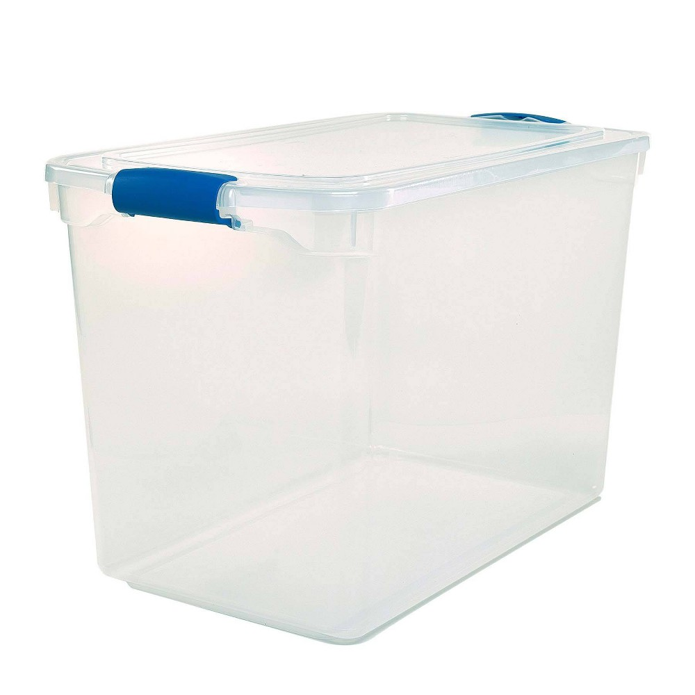 Image of 2pk 112qt Modular Latching Clear Storage - Homz, Blue Clear