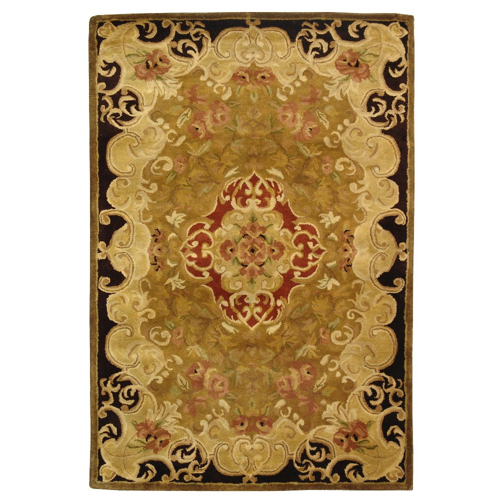 Gold/Cola Abstract Tufted Area Rug - (4'x6') - Safavieh
