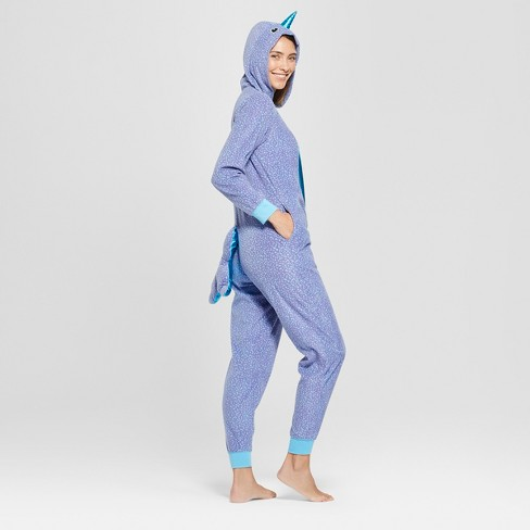 Women s Halloween Narwhal Union Suit - Xhilaration™ Blue XS S   Target 80f0dba62