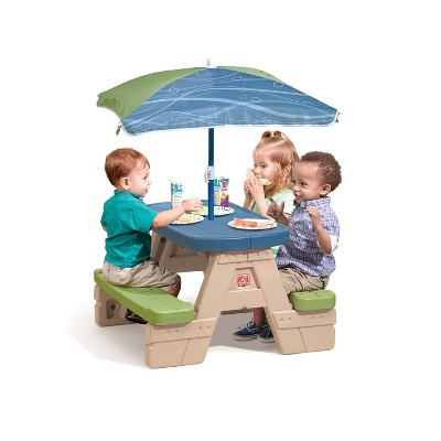 Step2® Sit U0026 Play Junior Picnic Table With Umbrella