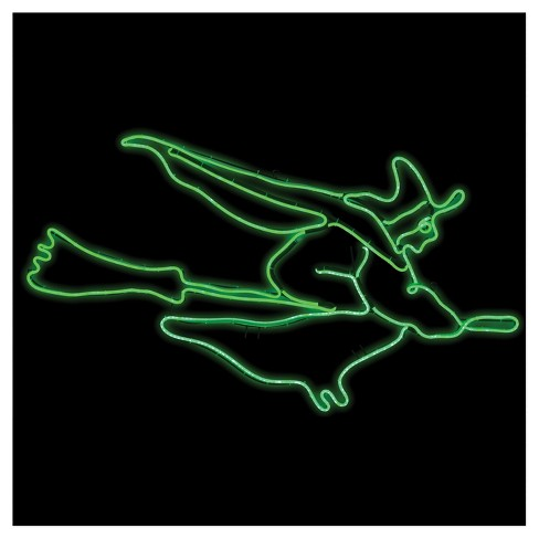 "47"" Halloween Short Flying Witch Glow Light Sign - image 1 of 1"