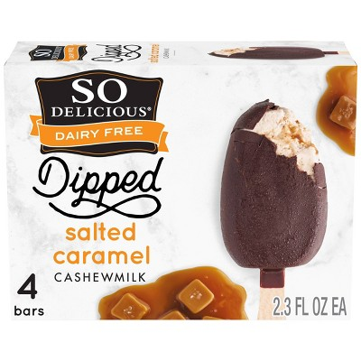 So Delicious Dipped Salted Caramel Cashew Milk Non-Dairy Frozen Dessert Bar - 4ct/ 9.2oz