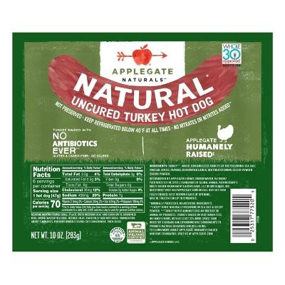 Applegate Naturals Uncured Turkey Hotdogs - 10oz