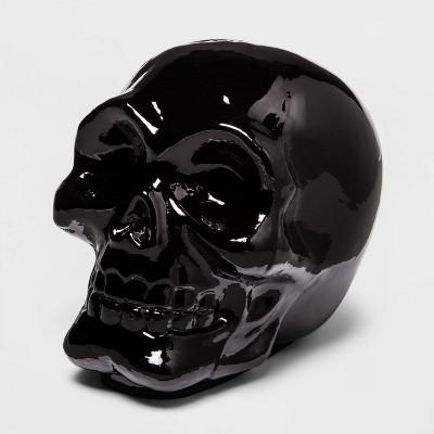 Large Black Mercury Glass Halloween Skull - Hyde & EEK! Boutique™