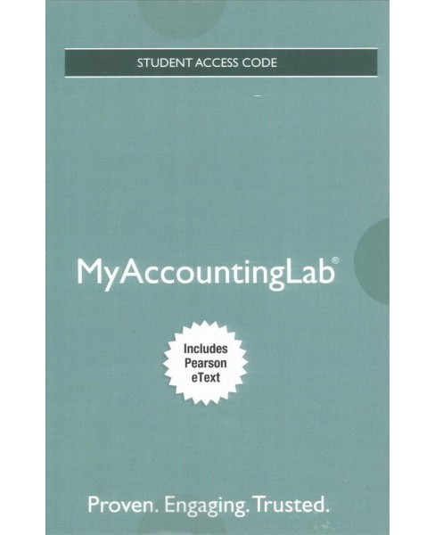 Horngren's Financial & Managerial Accounting MyAccountingLab Access Code : Includes Pearson Etext - image 1 of 1