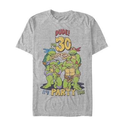 Men's Teenage Mutant Ninja Turtles 30th Birthday Pizza Party T-Shirt