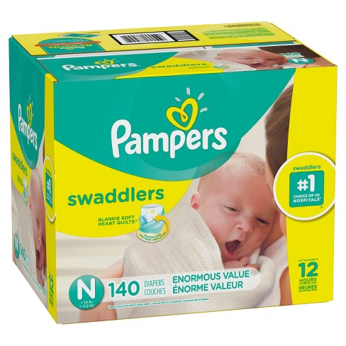 Pampers Swaddlers Disposable Diapers Enormous Pack - (Select Size) - image 1 of 7