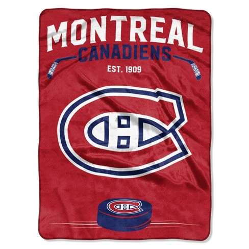 NHL Montreal Canadiens Inspired Raschel Throw - image 1 of 3